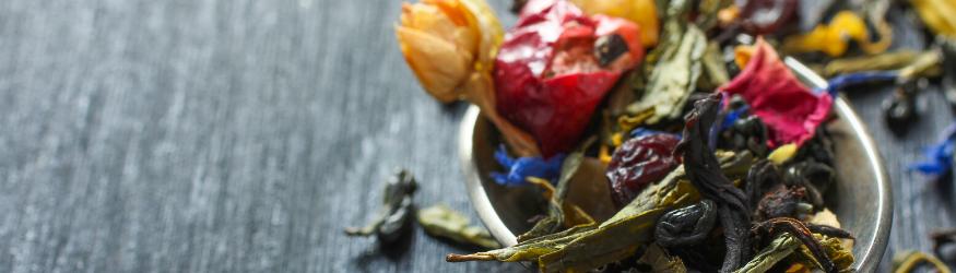 Thés parfumés de qualité et fleurs de thé